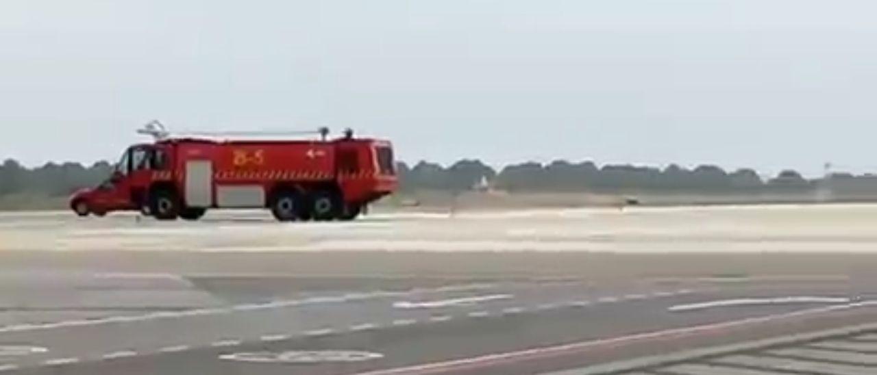 Aterrizaje de emergencia en Ibiza
