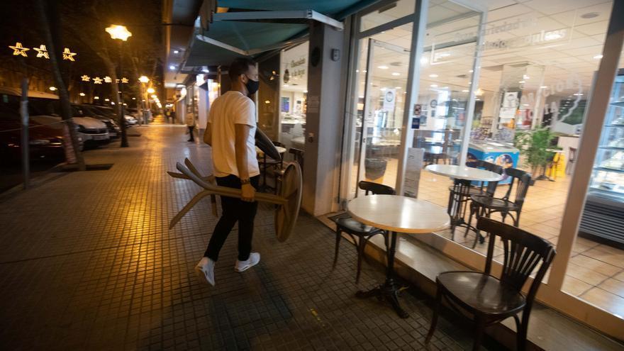 Las imágenes del primer toque de queda en Mallorca
