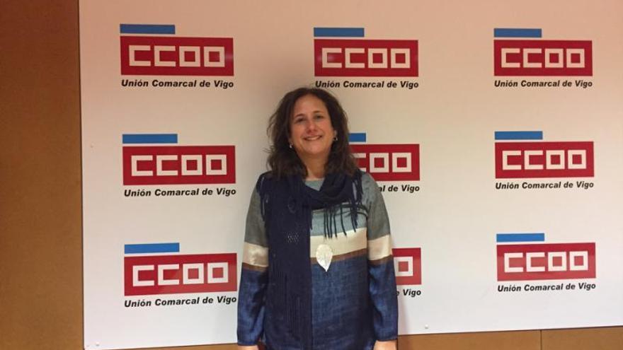 Montserrat Carrera, al mando de la unión comarcal de CC OO Vigo