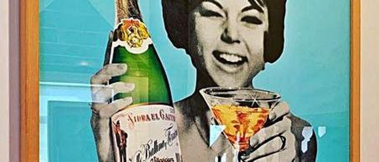 Antiguo anuncio  de sidra El Gaitero.