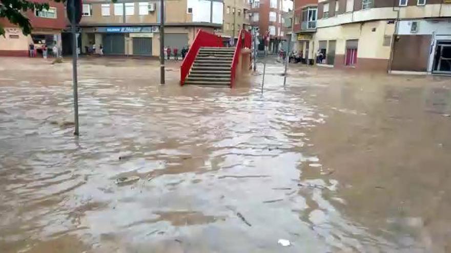Las lluvias dejan aislado Espinardo