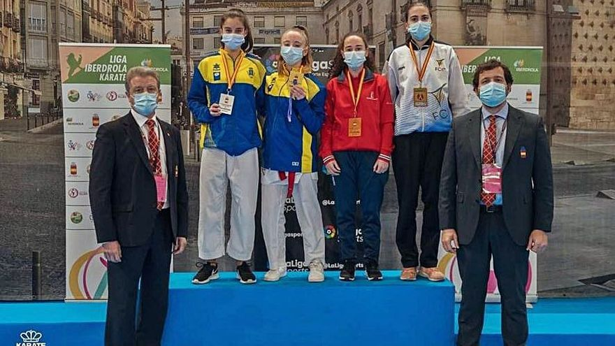 La langreana Beatriz Palleiro, campeona de España de kárate