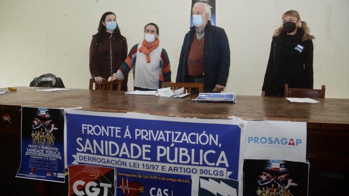 Presentación de la concentración en rueda de prensa en Pontevedra.