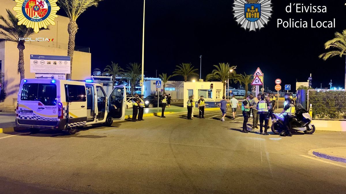Control de la Policía Local y Nacional del viernes.