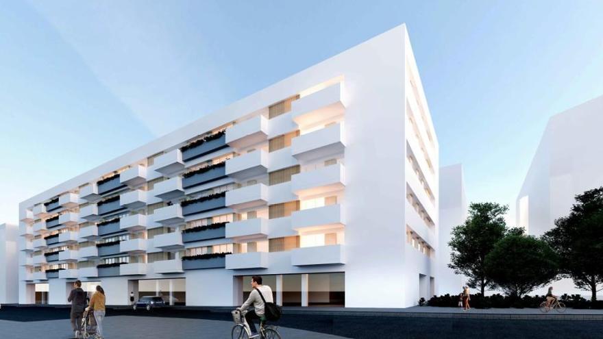 El proyecto de construcción de 50 viviendas en el barrio de Xuxán, antiguo ofimático, ya tiene ganador