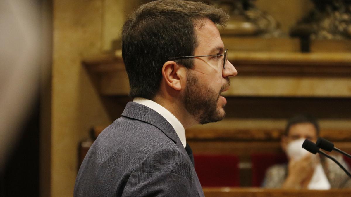 El president del Govern, Pere Aragonès