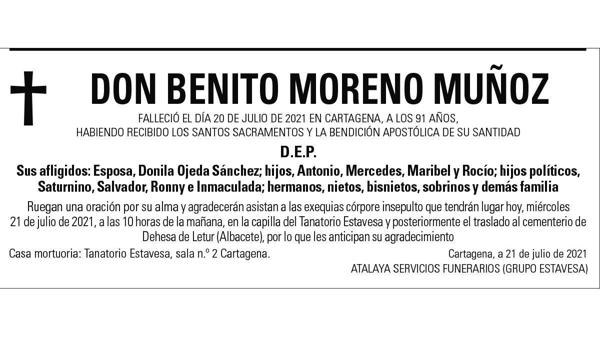 D. Benito Moreno Muñoz