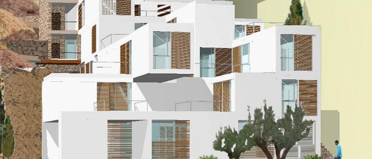 Recreación del edificio que se construirá en El Portón con vivienda social