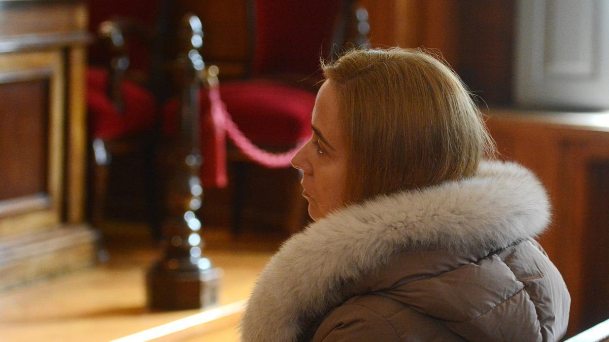 Tania Varela, durante el juicio en la Audiencia de Pontevedra.