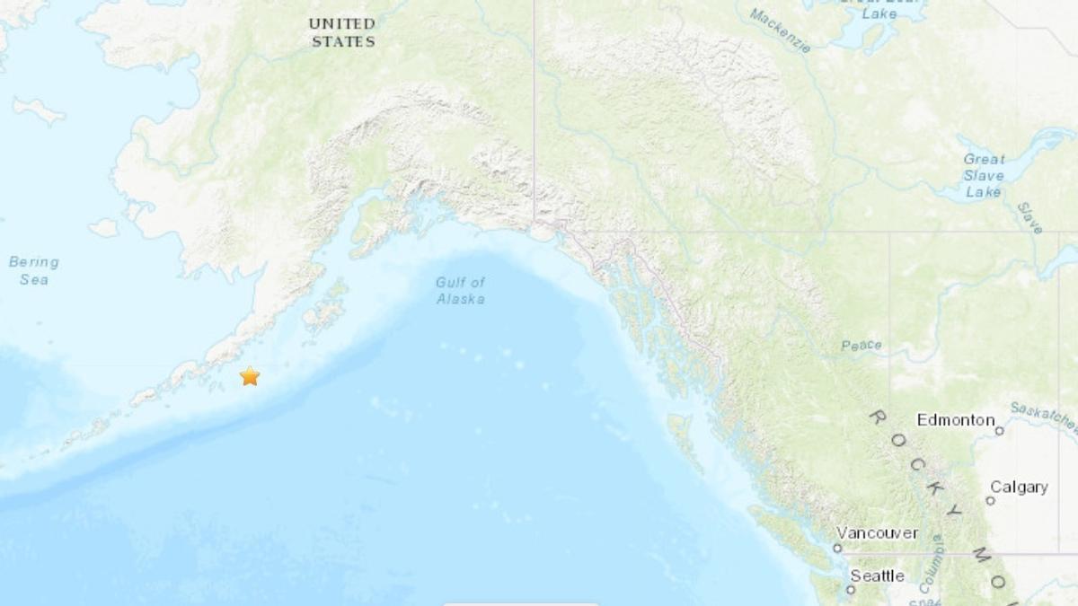 Terremoto de magnitud 8,2 en la escala abierta de Richter frente a la costa de Alaska (EEUU)