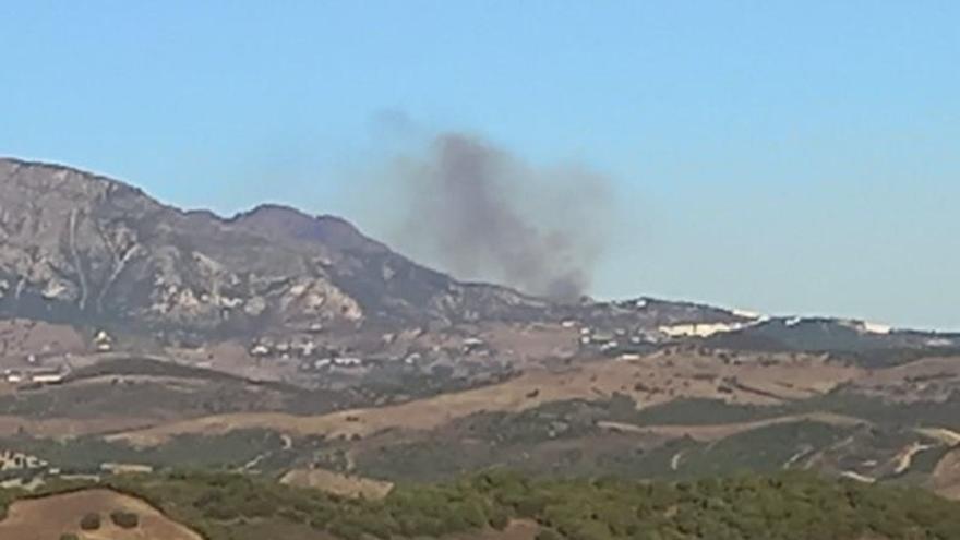 Estabilizado el incendio declarado este miércoles en Casares