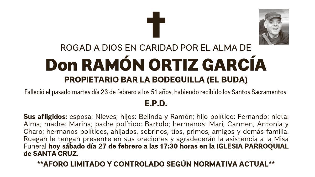 Esquela Ramón Ortíz García