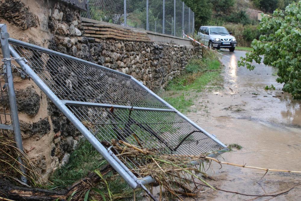 Destrozos en El Comtat por el temporal