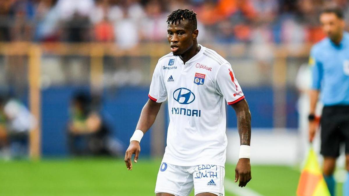 Youssouf Koné, durante un encuentro de la liga francesa con el Olympique de Lyon.