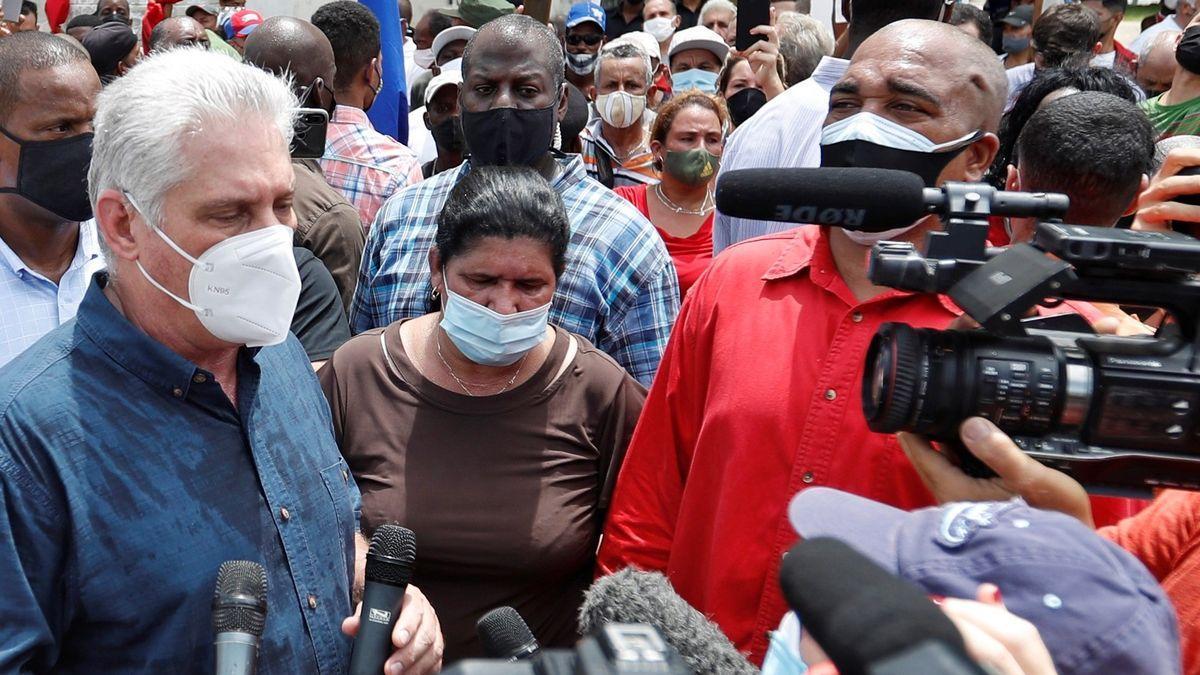 El presidente cubano convoca a sus partidarios a combatir las protestas callejeras
