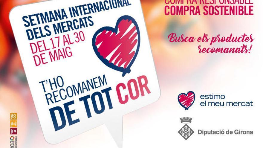 La Xarxa de Mercats Sedentaris de Girona engega «Estimo el meu mercat»