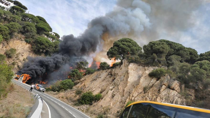 Incendi entre Lloret i Tossa de Mar