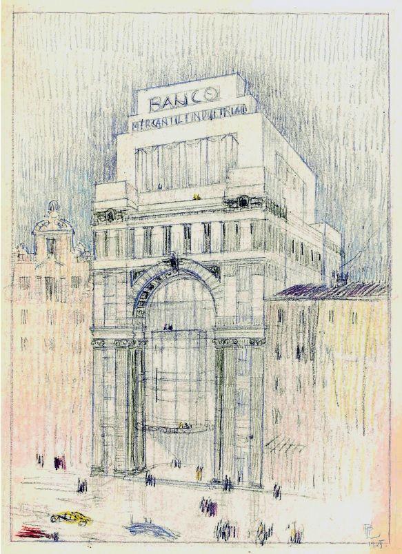 Dibujo del Banco Mercantil de Madrid firmado por Palacios.jpg