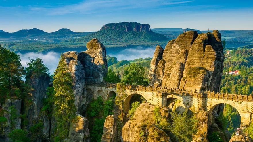 El puente Bastei, en Alemania