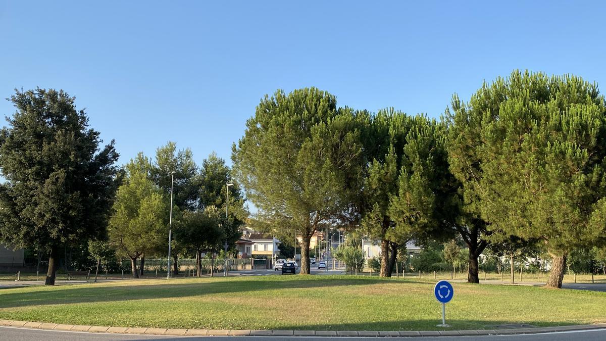 La zona que asfaltarà l'ajuntament de Banyoles