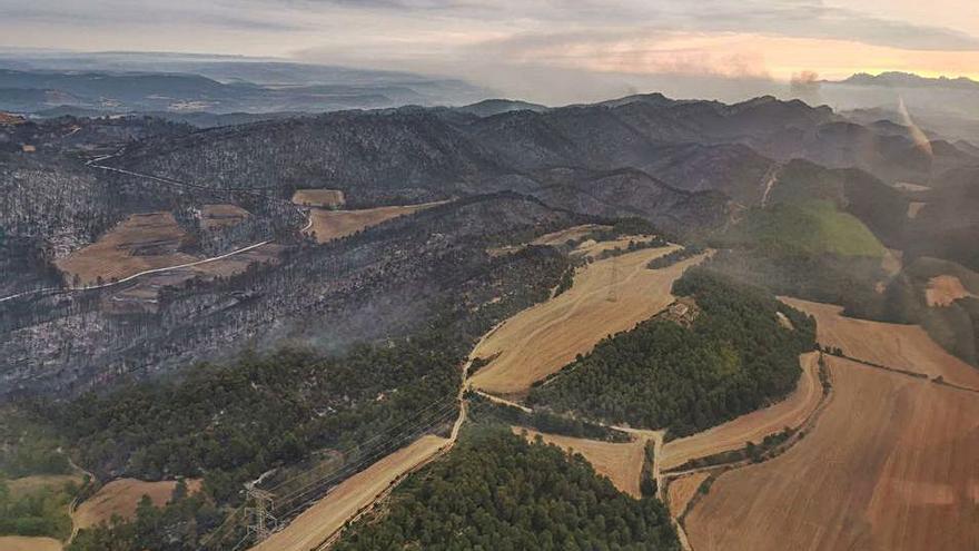 L'incendi ha afectat  un perímetre de gairebé 1.700 hectàrees