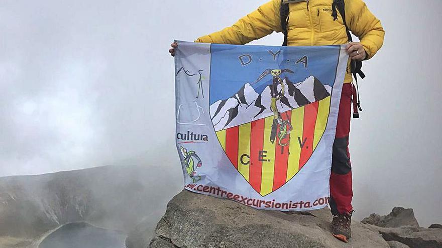 Juanjo Boscà, a casi 5.000 m. en México