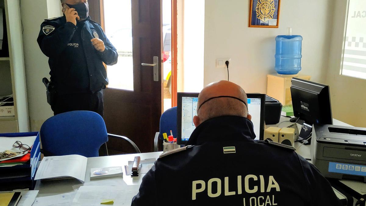 Efectivos de la Policía Local de Monesterio