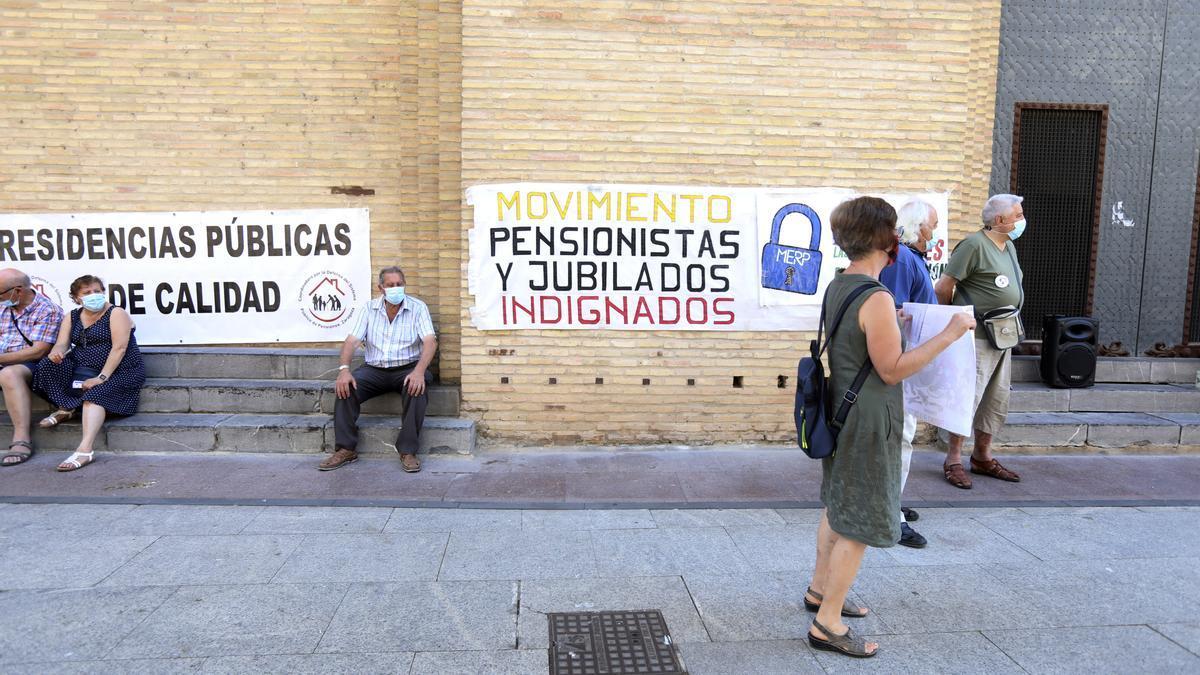 Concentración en Zaragoza por la reforma de las pensiones este lunes