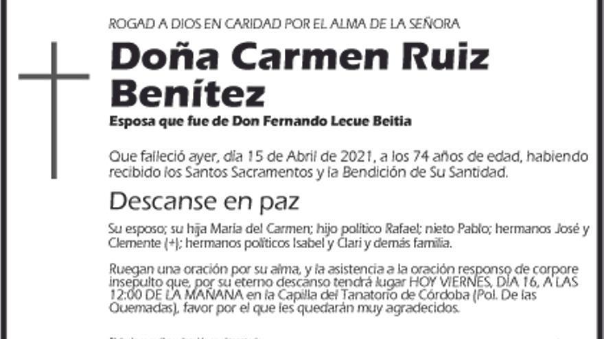 Carmen Ruiz Benítez