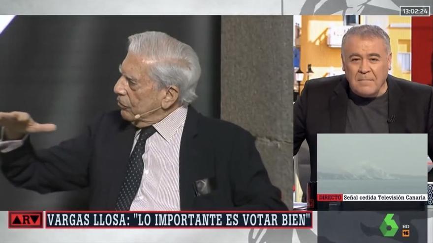 """Ferreras, tajante con Vargas Llosa en 'Al rojo vivo' por su polémica sobre """"votar bien"""""""