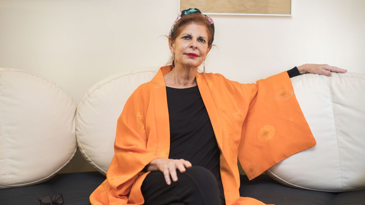 Carmen Alborch durante una entrevista con Levante-EMV.