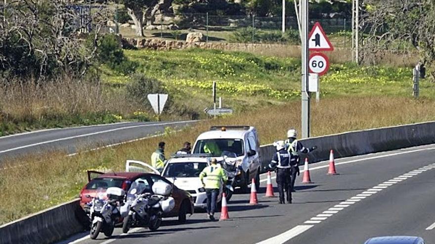 Accidente en el desvío a Magaluf