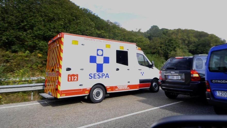 Fallece un motorista en Langreo, en la Autovía Minera