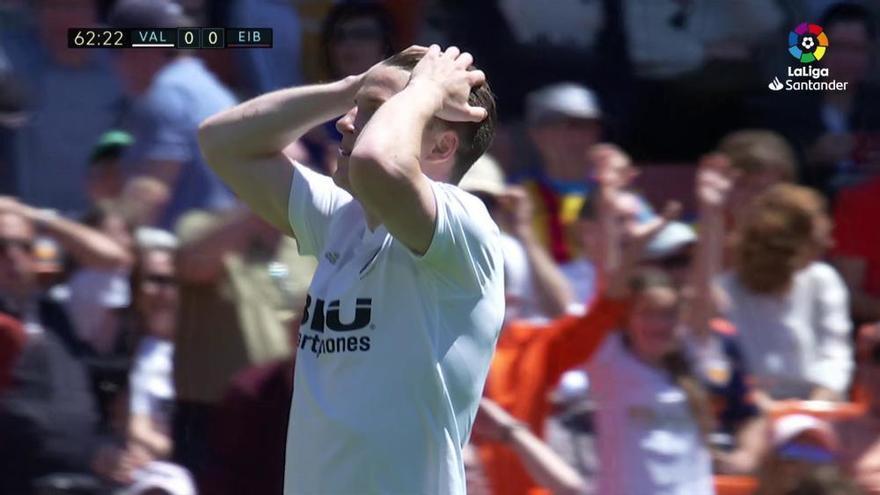 LaLiga Santander: El gol del Valencia - Eibar (0-1)