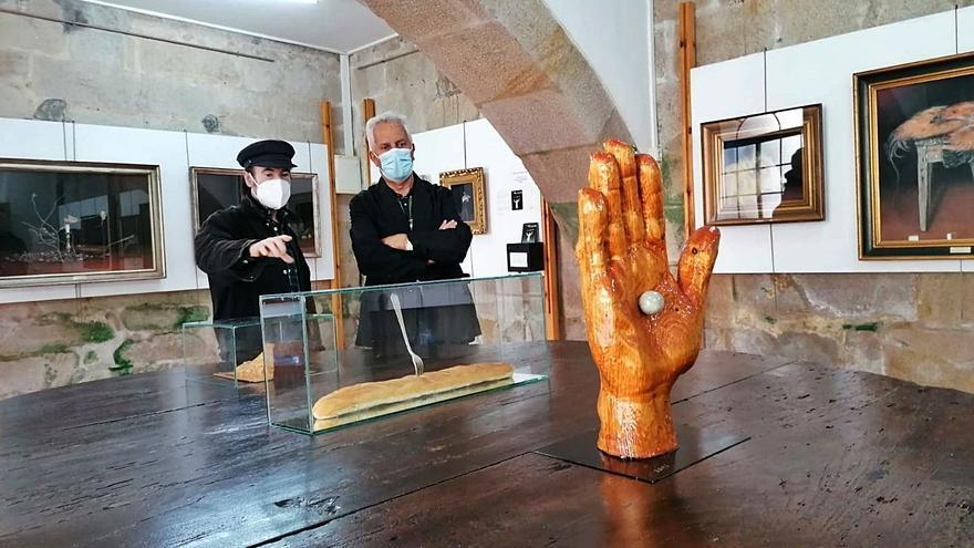 Las obras del artista Diego de Giráldez se exponen en el Monasterio de Poio