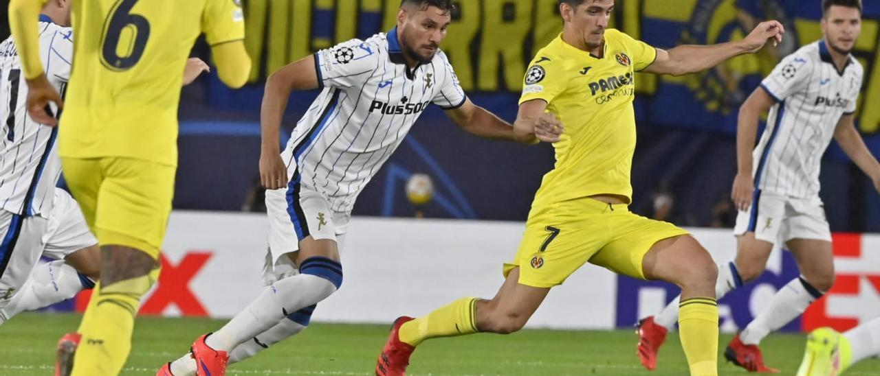 Gerard Moreno, durante el Villarreal-Atalanta.