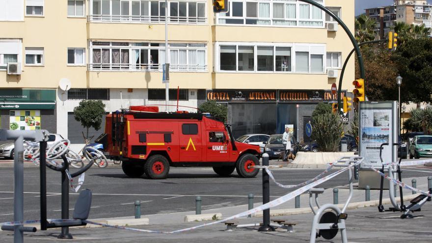 Playas cerradas en Málaga en el inicio de la primavera