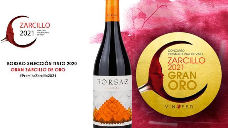 Borsao Selección tinto 2020 recibe la medalla Gran Oro en los premios Zarcillo