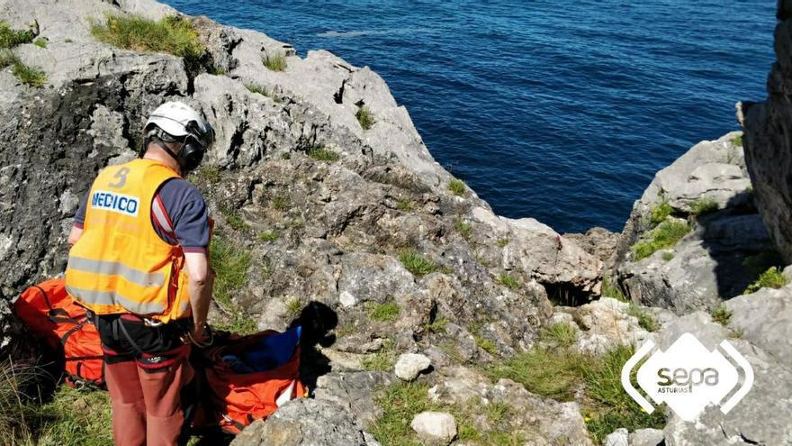 Tres rescates en un día: accidentada jornada para los Bomberos de Asturias