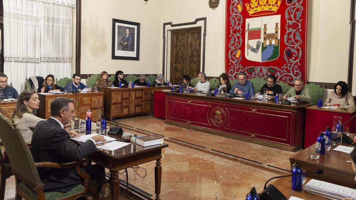 Pleno del Ayuntamiento de Zamora en una imagen de archivo.