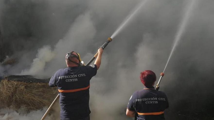 COVID y accidentes de tráfico, ejes de la labor de Protección Civil en Cuntis en 2020