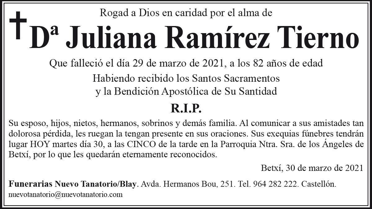 Dª Juliana Ramírez Tierno