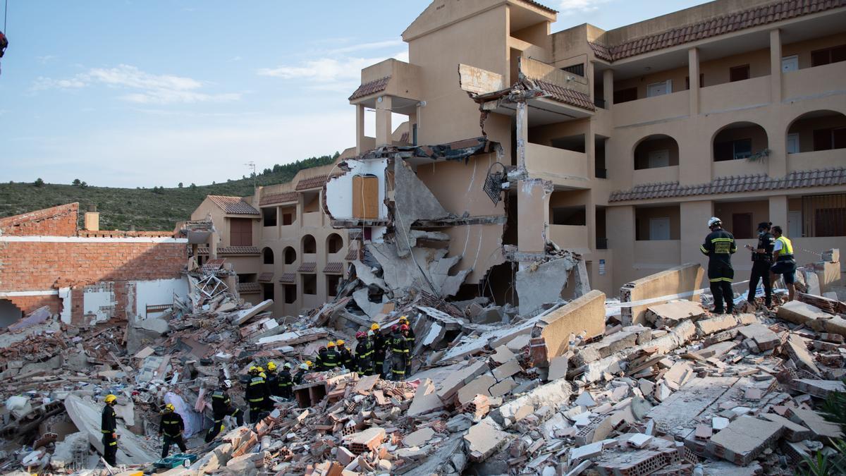 Devastadora imagen del estado en el que quedó el edificio de Font Nova.