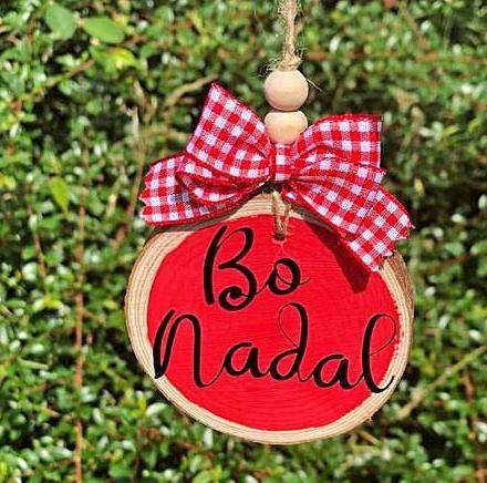Uno de los nuevos diseños de bolas de Navidad de Crea con Adva.