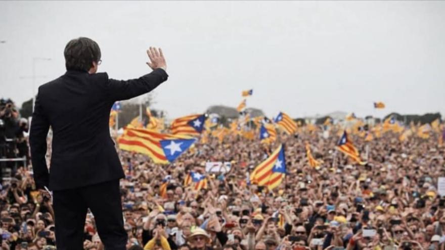 Concentració de suport a Carles Puigdemont aquesta tarda a Figueres i Roses