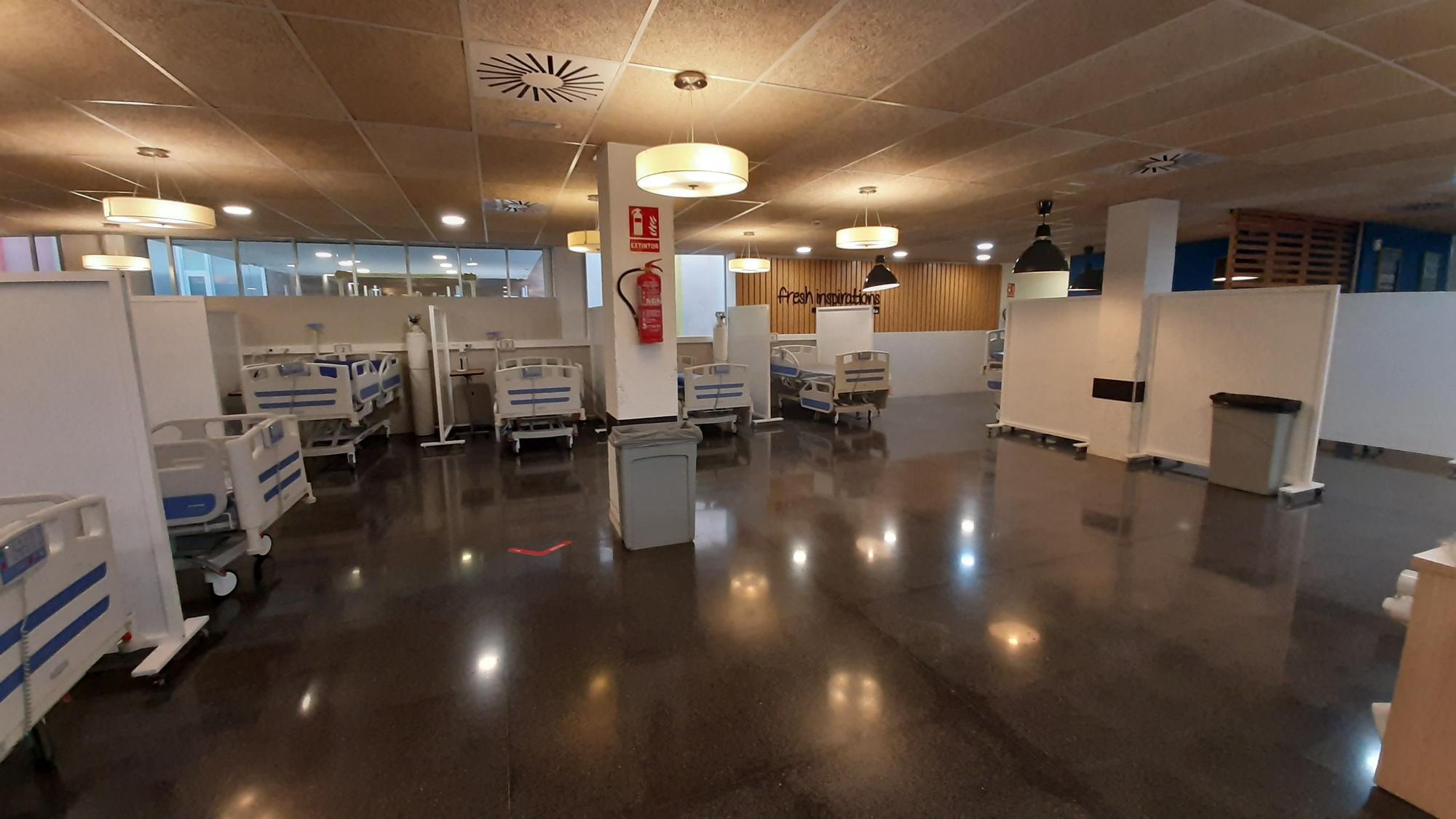 Así ha habilitado el Hospital General la cafetería y la capilla para enfermos sin covid-19