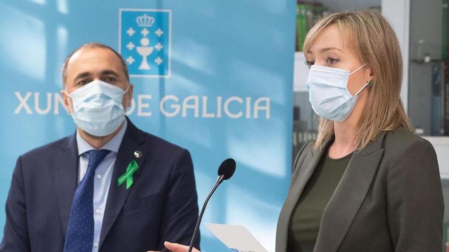 El conselleiro de Sanidade, Julio García Comesaña, y la conselleira de Política Social, Fabiola García.