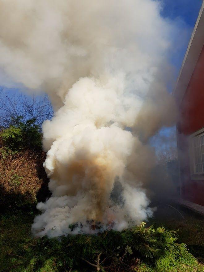 Las hogueras deben realizarse alejadas de las viviendas y zonas arboladas.