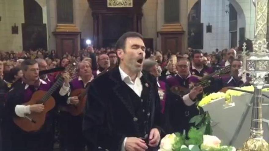 El alcalde de Cartagena canta a la patrona