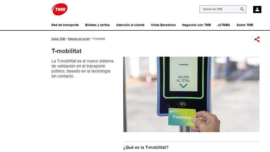 Un error a la web de la T-Mobilitat deixa al descobert dades dels usuaris